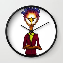 Grumpie Owl / Moody Wall Clock