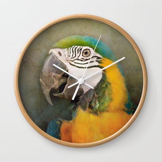 Portrait of a Parrot Wall Clock