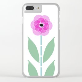 Pink Flower Trio Clear iPhone Case