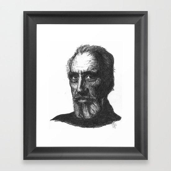 Christopher Lee Framed Art Print
