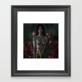 rose and chain Framed Art Print
