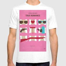 No736 My True Romance minimal movie poster White MEDIUM Mens Fitted Tee