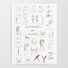 Alphabet of names Poster