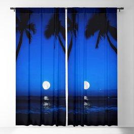 Blue Hawaii Blackout Curtain