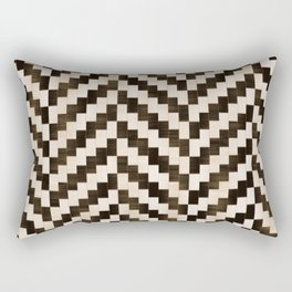 Brown herringbone Rectangular Pillow