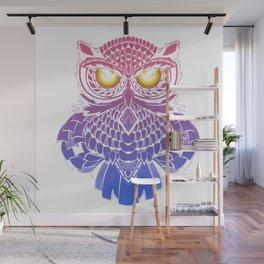 Fire eyes owl Wall Mural