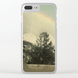 Rainbow Aftermath Clear iPhone Case