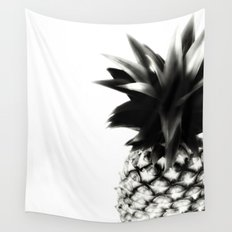 Black Pineapple Wall Tapestry