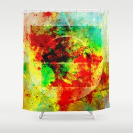Subtle Form - Abstract colour painting Shower Curtain
