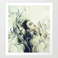 stag Art Prints featuring Stag by Anna Dittmann