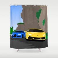 lamborghini Shower Curtains featuring Lamborghini & Bugatti by Szilárd A Legjobb