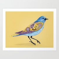 paisley Art Prints featuring Paisley by Hannah Spiegleman