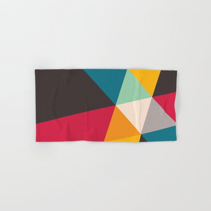 Geometric Triangles Hand & Bath Towel