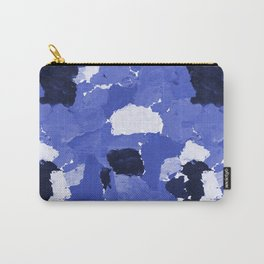 Kenni - abstract paint palette blue white navy bright modern gender neutral painting brushstrokes  Carry-All Pouch