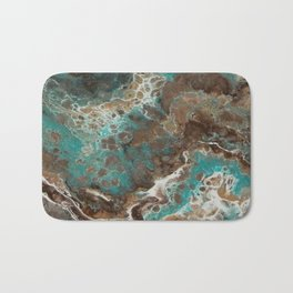 Water Flow, Abstract Acrylic Flow Art Bath Mat