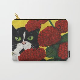 Cat Amongst The Geraniums 3 Carry-All Pouch