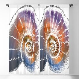 The Nautilus Shell Transparent - Quote Blackout Curtain