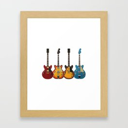 Four Electric Guitars Framed Art Print