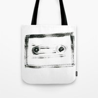 tape Tote Bags featuring TAPE by Michela Buttignol