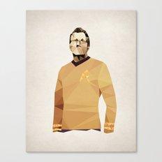 Polygon Heroes - Kirk Canvas Print