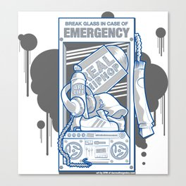 Emergency Hip Hop to the Rescue!  Canvas Print