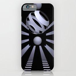 white on black -102- iPhone Case