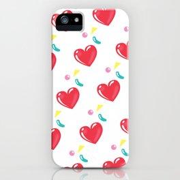 heart hearts iPhone Case
