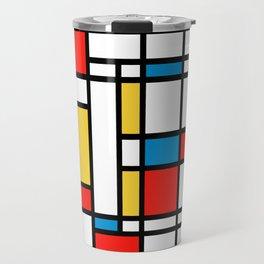 Tribute to Mondrian No2 Travel Mug