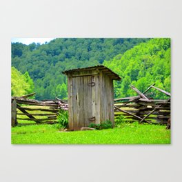 Country outhouse Canvas Print