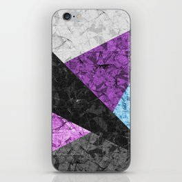 Marble Geometric Background G437 iPhone Skin