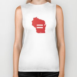 Wisconsin Love Biker Tank