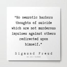 59 |   Sigmund Freud Quotes | 190926 Metal Print