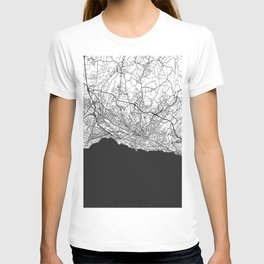 Lausanne Map Gray T-shirt