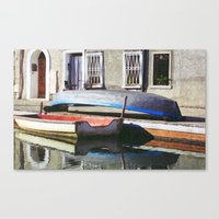 boats Canvas Prints featuring Boats by Vivian Fortunato