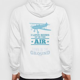 up in the air aircraft Hoody