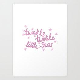 Twinkle Twinkle Little Star Art Print