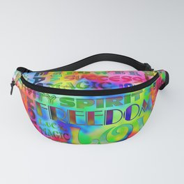 Flower Power Words Of Life Fanny Pack