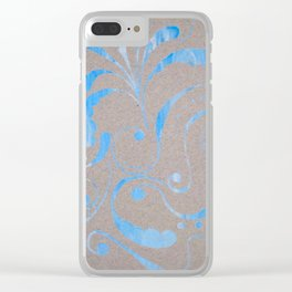 marbled design Clear iPhone Case