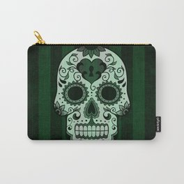 Día de los Muertos in Emerald Green Carry-All Pouch