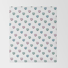 Mean Candy Hearts Throw Blanket