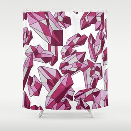 Falling crystals #3 Shower Curtain