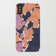 Cartografía de Orquídea (on blue) iPhone X Slim Case