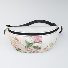 Tropical Parrot Dream Pink Fanny Pack