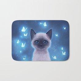 Siamese kitten Bath Mat