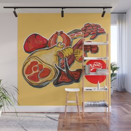 Red meat Wall Mural