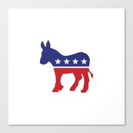 Democrat Original Donkey Canvas Print