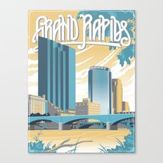 Vintage Grand Rapids Canvas Print