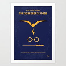 No101-1 My HP - SORCERERS STONE minimal movie poster Art Print