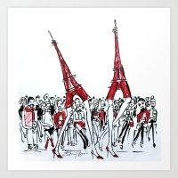 A Paris Runway Fashion Illustration Art Print