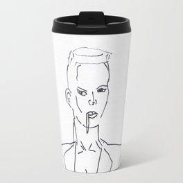 Grace Jones Smoking Travel Mug